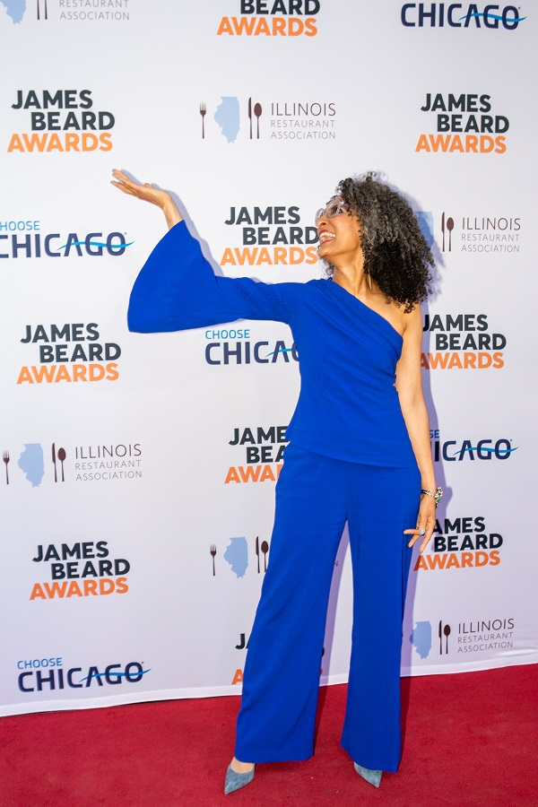 Carla Hall 2018 James Beard Awards photo by Francis Son