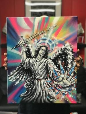 DEZ Customz canvas art work