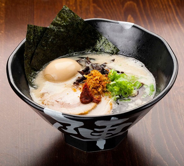 Jinya Ramen bowls are influenced by authentic, Tonkotsu ramen. P