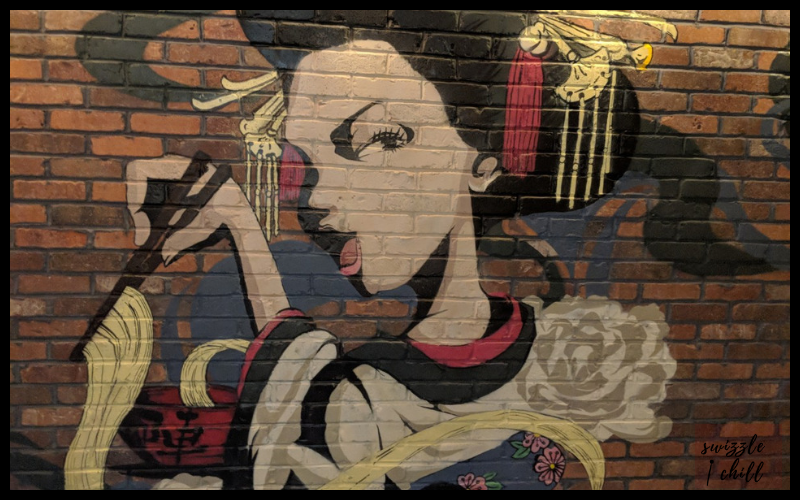 Jinya Ramen Bar Mural at Pike and Rose: Swizzle Chill