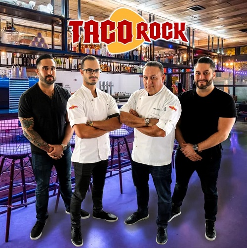 Chef Mike Cordero announces Taco Rock in Rosslyn with Chef Stefano Marzano and Cordero's sons, Nick and Anthony.