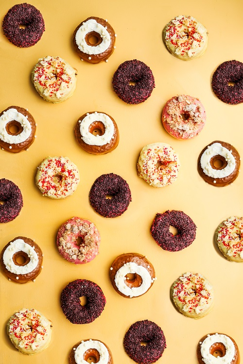 Astro debuts May 2019 flavors with Chef Kajula. There is an extra doughnut pictured here that will be released for National Doughnut Day. Photo by Jennifer Chase.