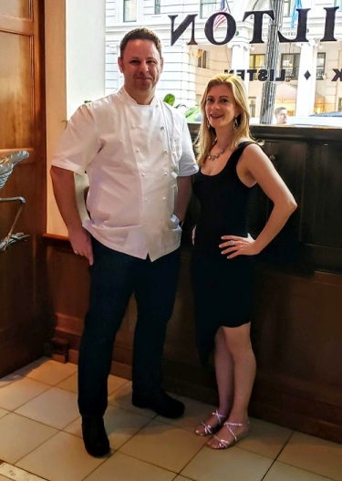 Chef Cathal Armstrong of Kaliwa with Swizzle Chill TV Anchor Lisa Comento at RAMMYS 2019 Nomination Party.