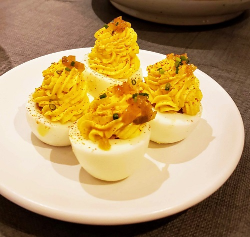 Deviled Ham Deviled Eggs, The Shilling Company. Photo by Lisa Comento.