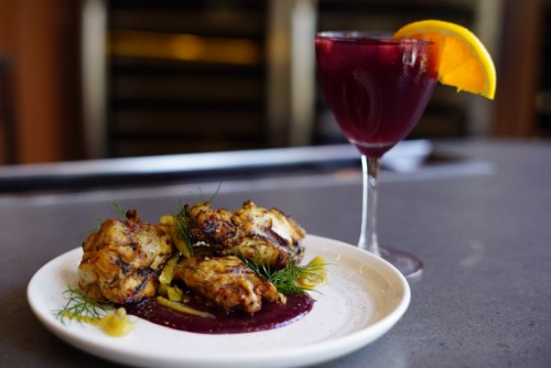 Supra introduced new, summer selections, including Grilled Chicken Wings with blackberry sauce and Turkish peppers. Photo by Savor PR.