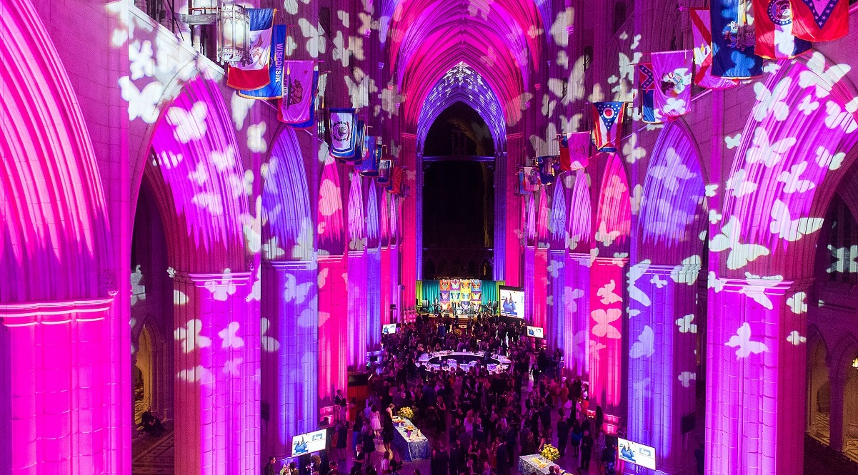 Butterfly Bash 2019 fundraiser, hosted at Washington National Cathedral, to support stronger communities, Fair Chance work
