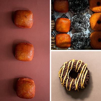 Astro Doughnuts rolled out a variety of sweet treats for October 2019, including Candy Apple and Chocolate Blackout Cake. Photo by Jennifer Chase.