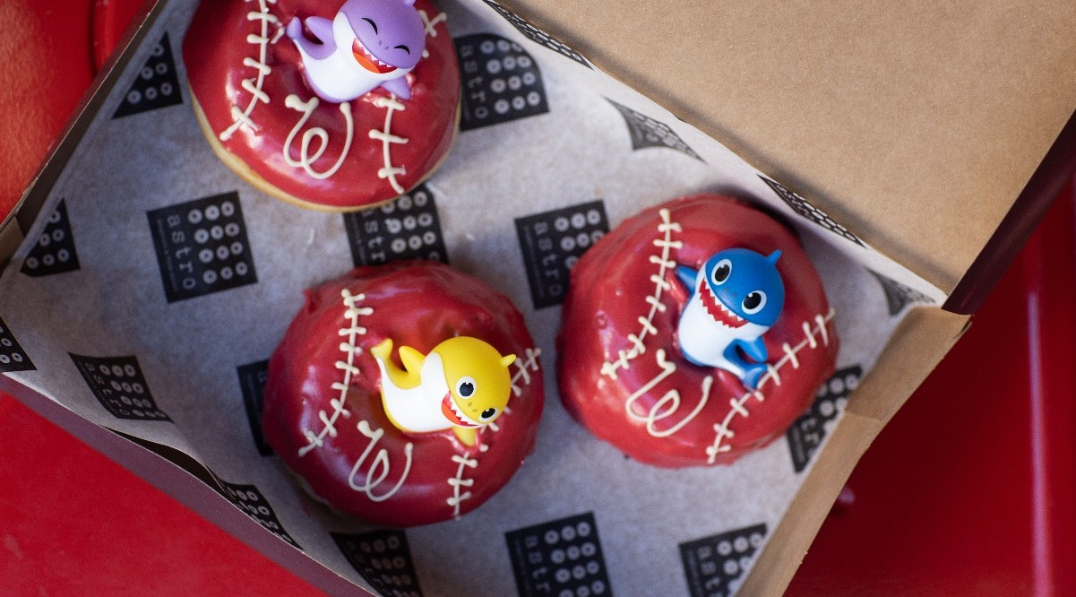 Baby shark Doughnuts for Nats World Series being sold by Astro Fried Chicken and Doughnuts