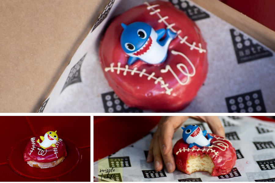 Baby shark doughnuts offered for Nats World Series: Astro Doughnuts and Fried Chicken. Photos by Jennifer Chase.