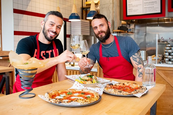Stellina Pizzeria owners and chefs. Photo by Stellina Pizzeria.