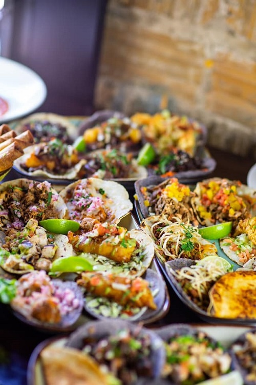 Taco Rock offers a variety of taco options, in addition to ceviche, stuffed peppers, sides and stuffed churros. Photo by Taco Rock.