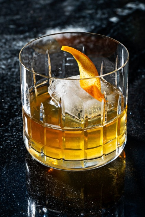 The Drunk Master at Hei Hei Tiger is an Old Fashioned prepared with bourbon or rye, ginger-infused honey and bitters