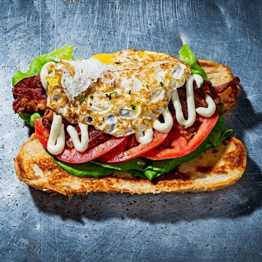 Satellite's customers can order up a a Steak and Egg Sandwich, and the BLT&E, which is a traditional BLT topped with two fried eggs