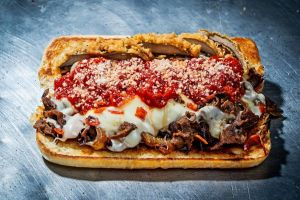 The new virtual restaurant, Satellite Sandwiches, features a menu of Philadelphia-inspired cheesesteaks, comfort sandwiches and sides, as well jumbo made-to-order cookies