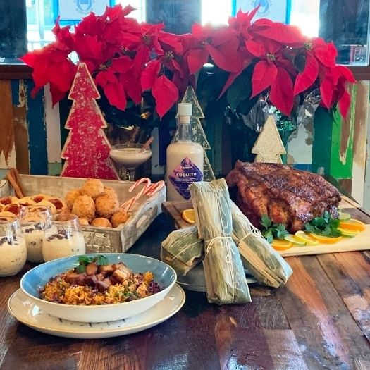There's La Famosa, the new Puerto Rican restaurant in Navy Yard, that is preparing its own version of the Yuletide meal...its Christmas Feast