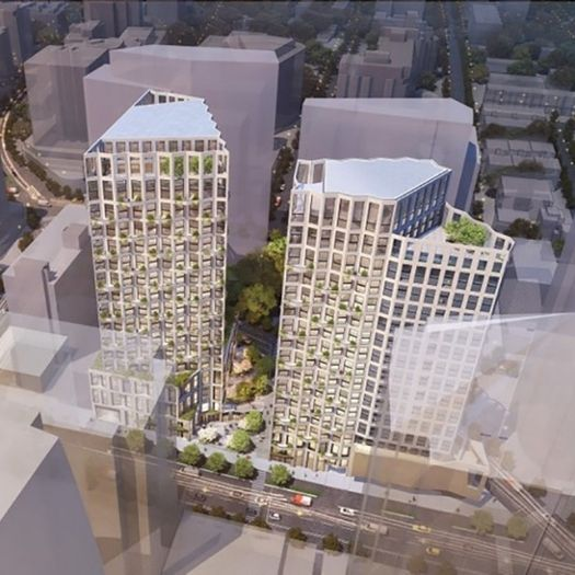 Two residential towers that include affordable housing will rise in the Rosslyn District of Arlington, after developer Snell Properties won unanimous approval