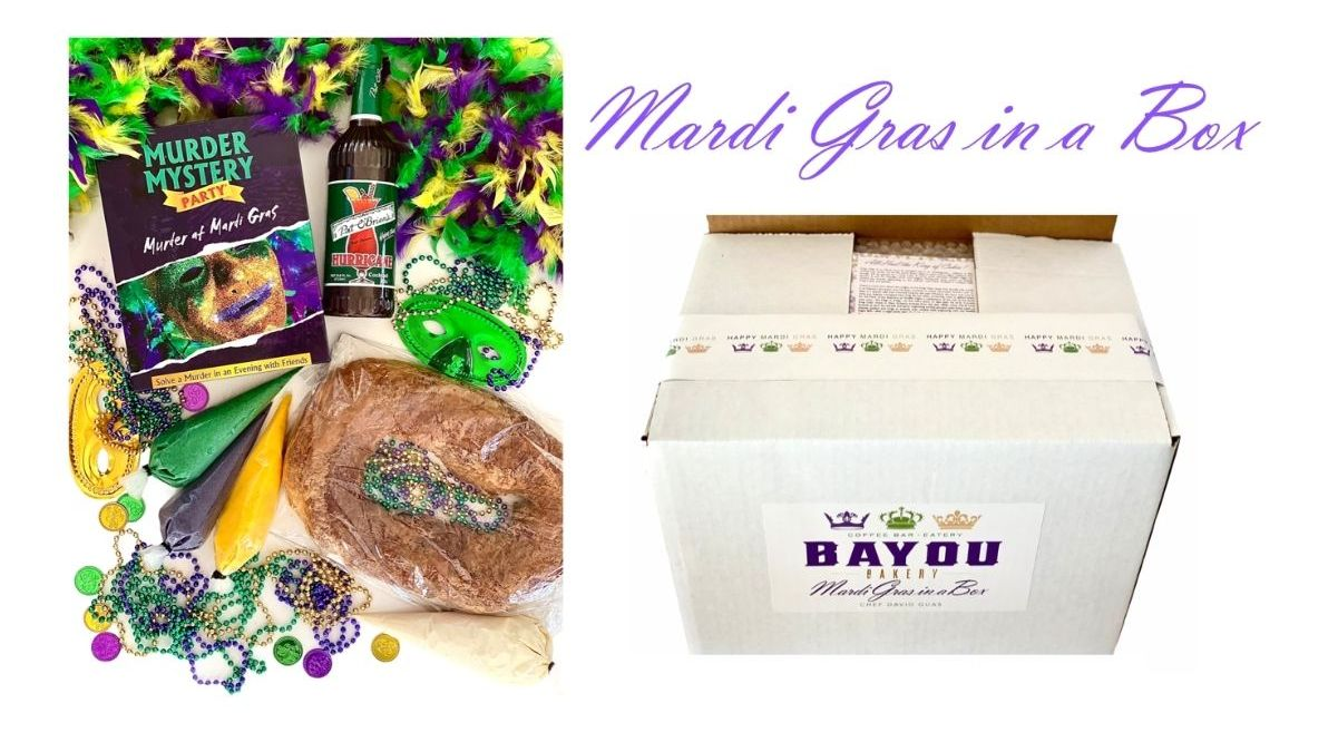 Bayou Bakery and David Guas will offer a Mardi Gras in a Box for $135, a package