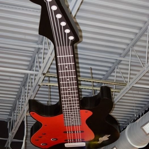 Taco Rock 2, which is now open at Pinecrest Plaza, features a giant, red and black guitar that hangs from the ceiling