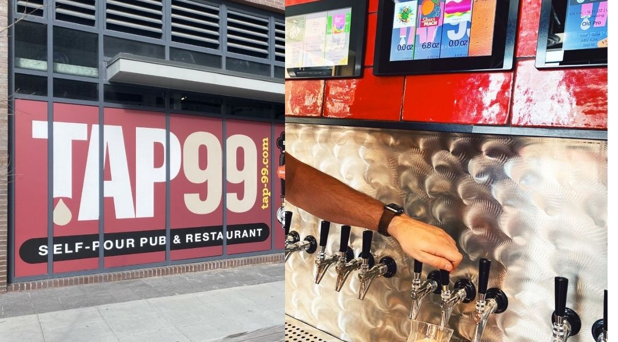 Self-pour Taphouse Tap99, located just across the main gates of Nationals Park in Navy Yard, has opened