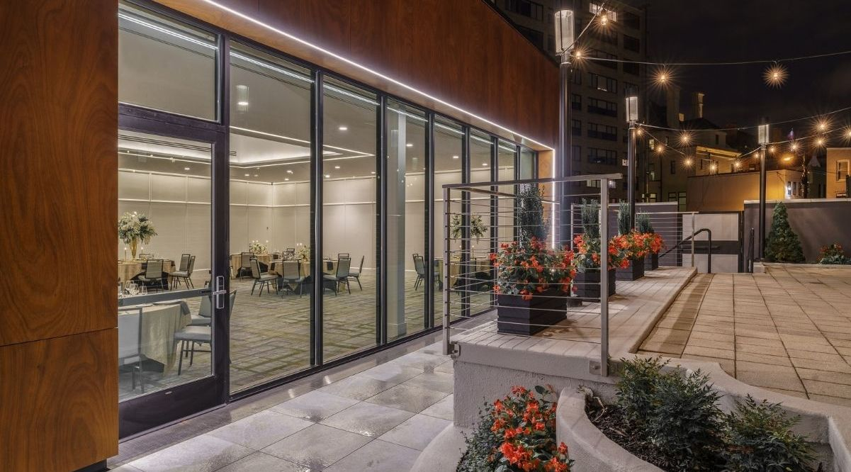 The Darcy Hotel, at 1515 Rhode Island Avenue Northwest, opened its new Courtyard Pavilion event space